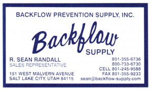 Backflow Supply Business Card 2