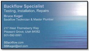 Backflow specialist